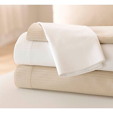 Feels Like Home Reverse Sateen Sheeting T310 Flat Sheets, Bone, 120in. L x 72in. W
