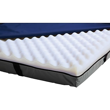 Medline Premium Gel Foam Overlays, 76in.L x 3 1/2in. H x 34in. W
