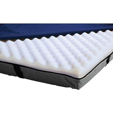 Medline Premium Gel Foam Overlays, 76in.L x 3 1/2in. H x 34in. W