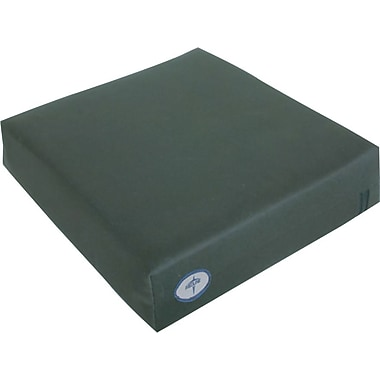 Comfort® Foam Wheelchair Cushions, 16in. L x 3in. W x 16in. D, Flat Type
