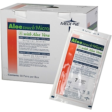 Aloetouch® Micro Powder-free Latex Surgical Gloves