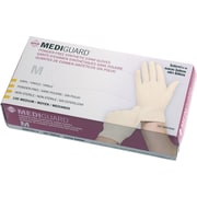 "MediGuard® Stretch Synthetic Vinyl Exam Gloves, Beige, XL, 9"" L, 1000/Pack"