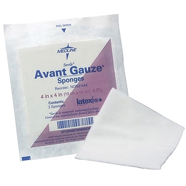 Avant Gauze® Non-woven Sterile Sponges, 4in. x 4in. Size, 4 Ply, 1280/Pack