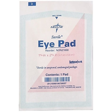 Medline Sterile Eye Pads, 2 5/8