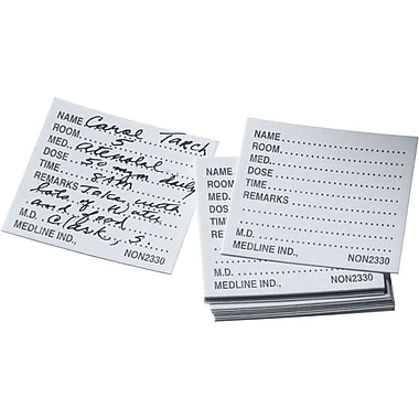 Medline Medication Time Cards, 500/Box