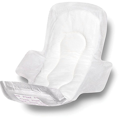 Medline Sanitary Pads with Adhesive and Wings, 11 1/2in. L, 216/Pack