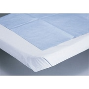 Medline Disposable Tissue/Poly Flat Bed Sheets, Blue, 84 L x 40 W