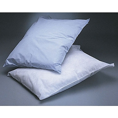 Medline Disposable Tissue/Poly Pillowcases, White, 21in. L x 30in. W
