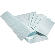 "Medline 3-Ply Tissue / Poly Professional Towels, Blue, 13"" L x 18"" W"