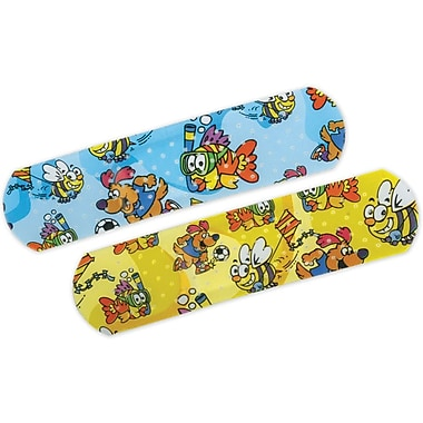Curad® Medtoon Adhesive Bandages, Cartoon, 3