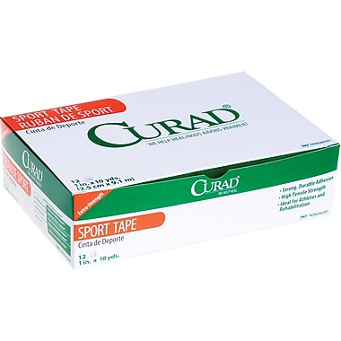 Curad® Ortho-porous Sports Adhesive Tapes, 10 yds L x 3in. W, 4/Box