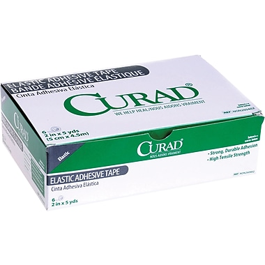 Curad® Elastic Adhesive Tape Bandages, 5 yds L x 1in. W, 12/Box
