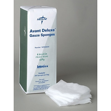 Avant Deluxe™ Non-woven Non-sterile Gauze Sponges, 4in. x 4in. Size, 3 Ply, 2000/Pack