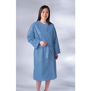 Medline Disposable Patient Robes, Blue, XL