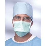 Medline Anti-fog Chamber-Style Surgical Face Masks with Foam Strip, Green, 300/Pack
