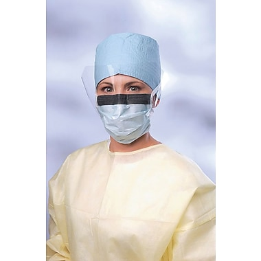 X-Tra® Surgical Face Masks with Eyeshield, Blue, 50/Box