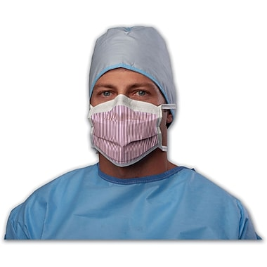 Max X Fluid Protection Surgical Face Masks with Eyeshield and Ties, Purple and White, 25/Box
