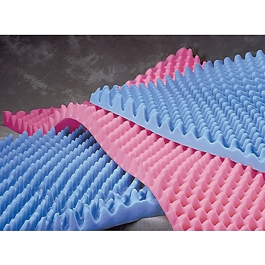 Medline Convoluted Foam Bed Pads, 73in.L x 3in. H x 32in. W, Premium Foam, 6/Pack
