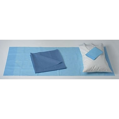Medline Spunbound Polypropylene Stretcher Sheet Sets with Absorbent Pad, 24/Pack