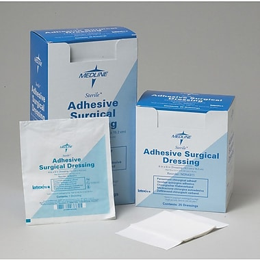 Medline Sterile Surgical Adhesive Dressings, 6