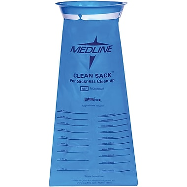 Medline Emesis Bags, Blue, 36 oz, 144/Pack