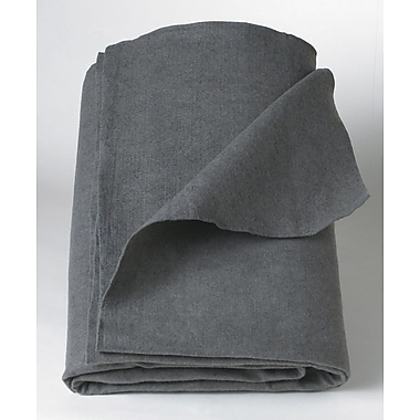 Medline Polyester/Cellulose Emergency Blankets, Gray, 80in. L x 40in. W