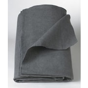 Medline Polyester/Cellulose Emergency Blankets, Gray, 80 L x 40 W