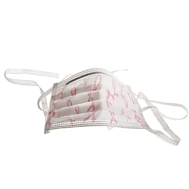 Medline Pink Ribbon Surgical Face Masks, Breast Cancer Logo, 300/Pack