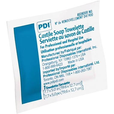 PDI® Castile Soap Towelettes, 100/Box