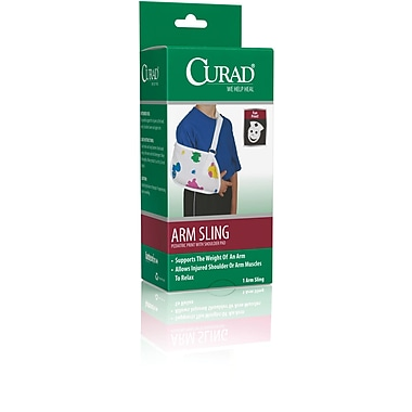 Curad® Pediatric Arm Sling, Toddler Size, 9in. L x 5 1/2in. D, 2/Pack