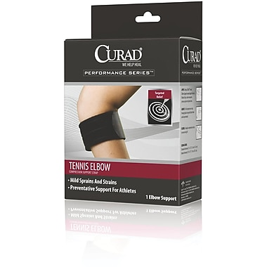 Curad® Delux Tennis Elbow Compression Support Strap, Universal, 31in. L x 2 3/4in. W, Each