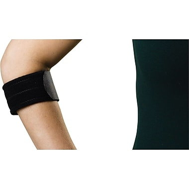 Curad® Standard Tennis Elbow Compression Support Strap, Universal, 21in. L x 2in. W, 4/Pack