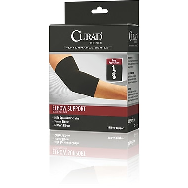 Curad® Pull-over Elbow Supports, Large, 6in. L x 10in. W, 4/Pack