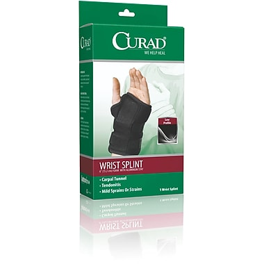 Curad® Right Wrist Splints, Universal, Retail Packaging, 4/Pack