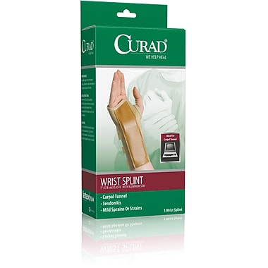 Curad® Elastic Right Wrist Splint, Medium, Retail Packaging, 4/Pack