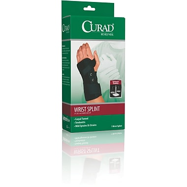 Curad® Lace-up Right Wrist Splints, Medium, Retail Packaging, 4/Pack