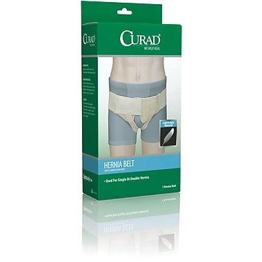 Curad® Hernia Belt With Compression Pad, Small, 4/Pack