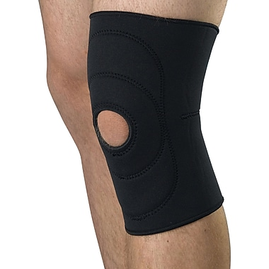 Curad® Open Patella Knee Supports, Black, Large, Retail Packaging, 4/Pack