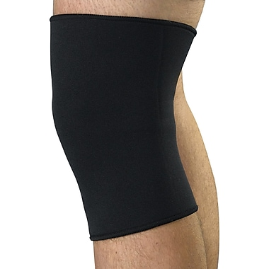 Curad® Closed Patella Knee Supports, Black, Medium, Retail Packaging, 4/Pack