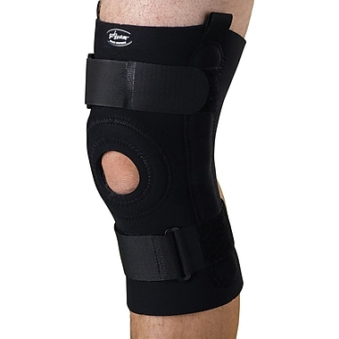 Curad® U-shaped Hinged Knee Supports, Black, Large, Retail Packaging, 4/Pack