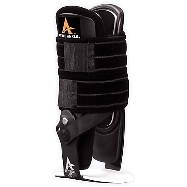 Medline Active Ankle Support with Hinge, Black, Medium, Each