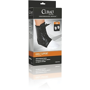 Curad® Lace-up Ankle Splint, Medium, Retail Packaging, 4/Pack