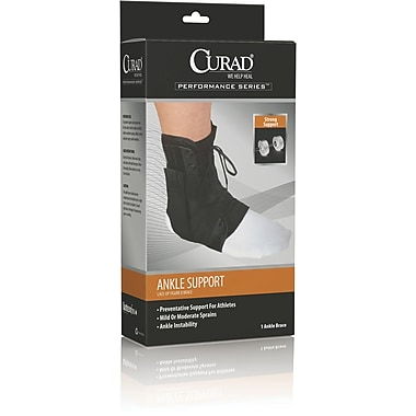 Curad® Figure Eight Lace-up Ankle Splint, Large, Retail Packaging, 4/Pack