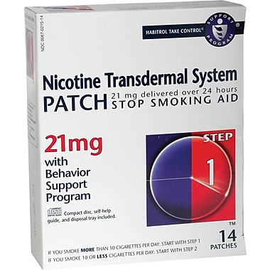 Generic OTC Nicotine Patches, 21 mg Size, 14/Box