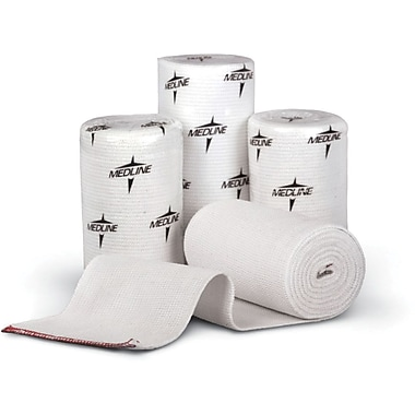 Swift-Wrap® Non-sterile Elastic Bandages, White, 5 yds L x 6in. W, 50/Pack