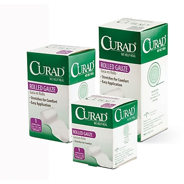 Curad® Sterile Rolled Gauze Bandages, 4 1/9 yds L x 2in. W, 24/Pack