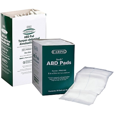 Caring® Sterile Abdominal Pads, 10