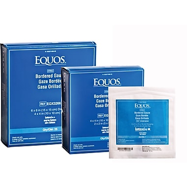 Equos™ Sterile Bordered Gauzes, 4in. L x 4in. W, 500/Pack