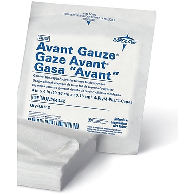 Avant Deluxe™ Non-woven Sterile Gauze Sponges, 4in. x 4in. Size, 4 Ply, 1200/Pack