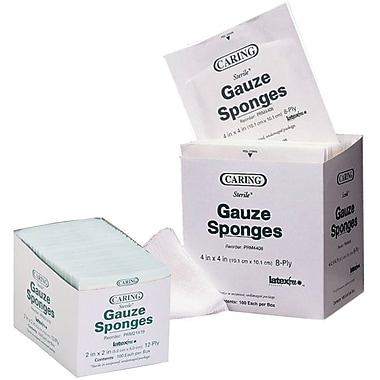 Caring® Woven Sterile Gauze Sponges, 2